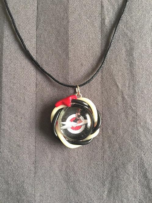 ROCKET Space Girl Black & White Twist Necklace