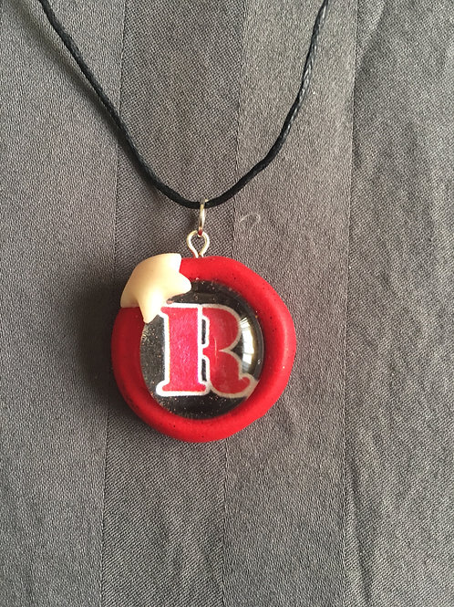 "ROCKET Red ""R"" White Star Necklace"
