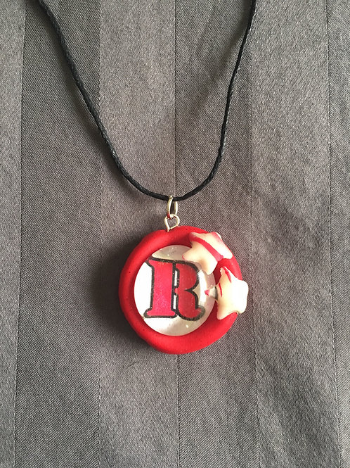 "ROCKET Red ""R"" Twin Star Necklace"