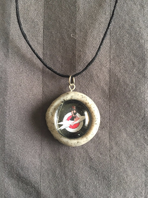 ROCKET Space Girl Gray Stone Necklace