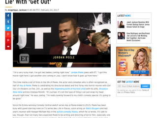 ETonline EXCLUSIVE: Jordan Peele Unmasks America's 'Post-Racial Lie' With 'Get Out&#