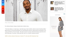 ETonline EXCLUSIVE: Anthony Mackie's Career Comes Full Circle: 'Every Stepping Stone Starts