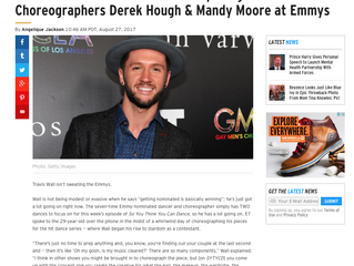 ETonline EXCLUSIVE: Travis Wall Talks Competing With Choreographers Derek Hough & Mandy Moore at