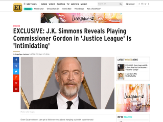 ETonline EXCLUSIVE: J.K. Simmons Reveals Playing Commissioner Gordon in 'Justice League' Is