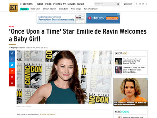 ETonline: 'Once Upon a Time' Star Emilie de Ravin Welcomes a Baby Girl!