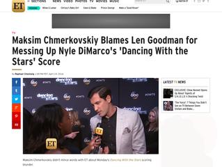 ETonline: Maksim Chmerkovskiy Blames Len Goodman for Messing Up Nyle DiMarco's 'Dancing With