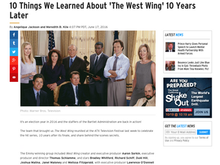ETonline: 10 Things We Learned About 'The West Wing' 10 Years Later