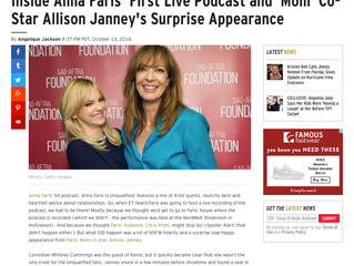 ETonline EXCLUSIVE: Inside Anna Faris' First Live Podcast and 'Mom' Co-Star Allison Jann