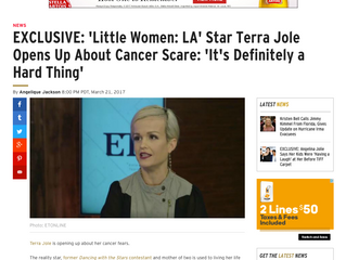 ETonline EXCLUSIVE: 'Little Women: LA' Star Terra Jolé Opens Up About Cancer Scare: 'It&