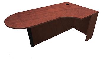 Bullet Desk With Corner Extension