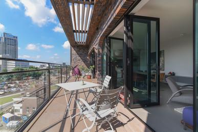 Vastgoed fotografie van penthouse in Amsterdam aan de Amstel