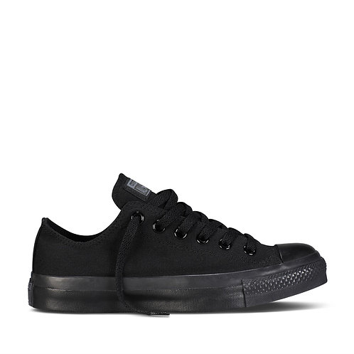 XRUN - ALL STAR converse black mono low | נעלי אולסטאר שחורות מונו נמוכות