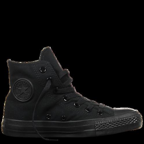 XRUN - ALL STAR converse hi black mono | נעלי אולסטאר גבוהות שחורות מונו