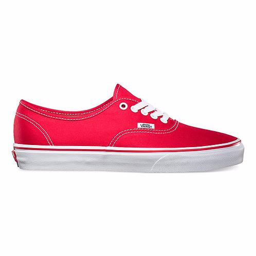 נעלי ואנס אוטנטיק אדום |Vans authentic red XRUN ,ספורט לי ולך, טוקסיק