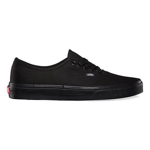 XRUN - Vans authentic black mono   נעלי ואנס אוטנטיק שחור מונו