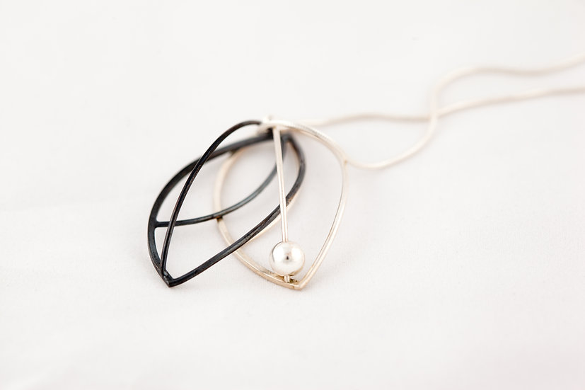 Sterling Silver Double Pendant