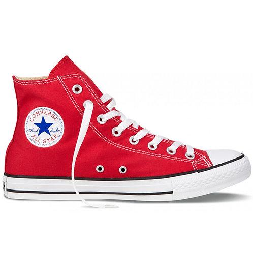 XRUN - ALL STAR converse hi red   נעלי אולסטאר גבוהות אדומות