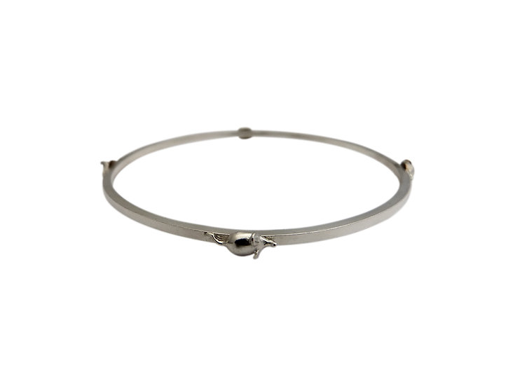 Sterling Silver Mouse Bangle
