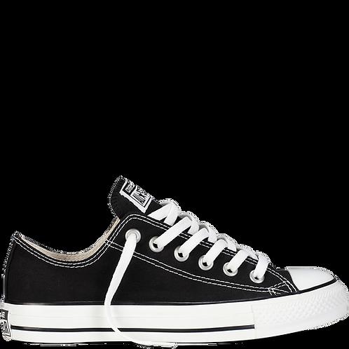 XRUN - ALL STAR converse black low   נעלי אולסטאר שחורות נמוכות