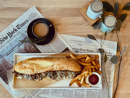 Seoul Cheese Steak and Chips