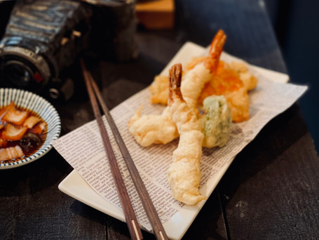 Tempura with pickles from the jar