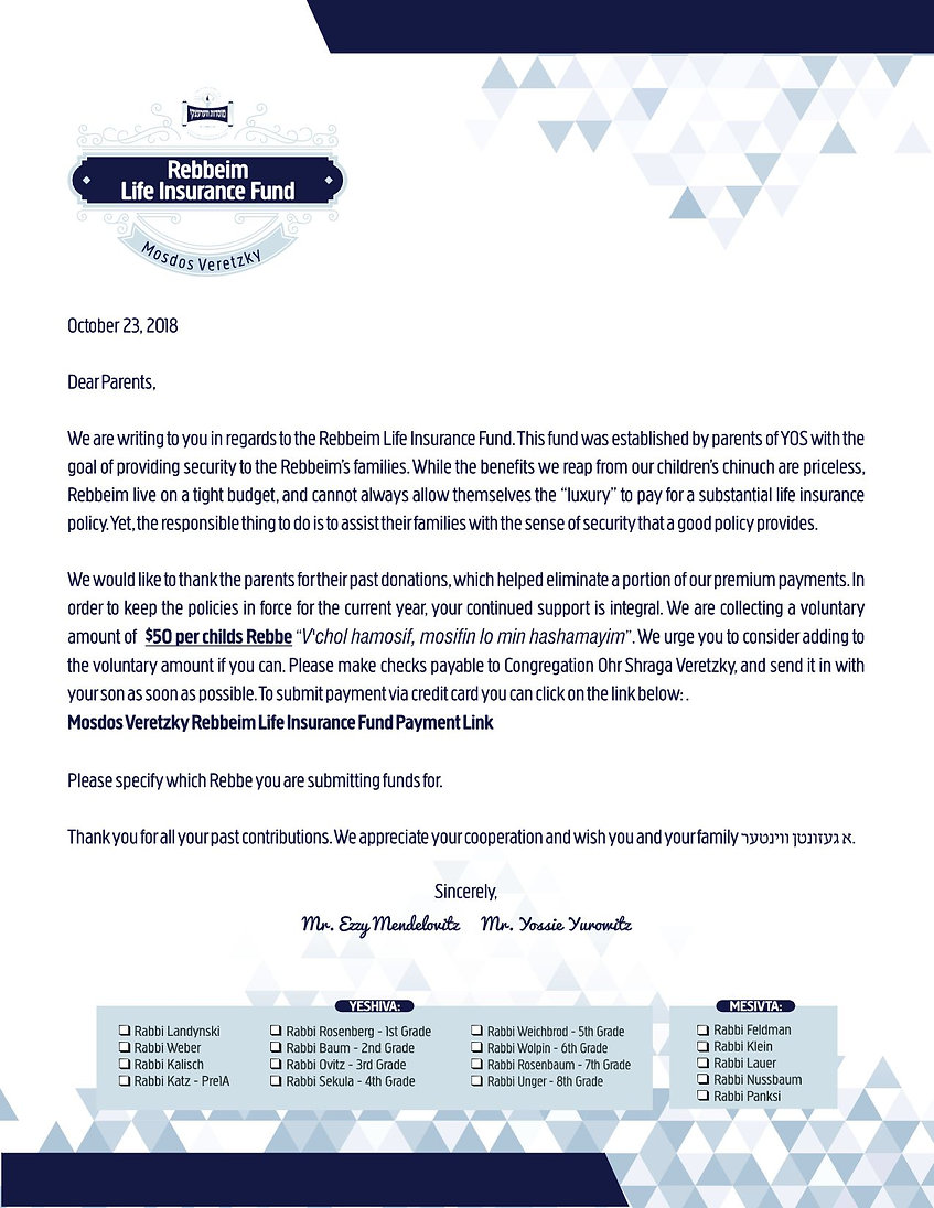 YOS_2018-96-Rebbeim Life Insurance Fund