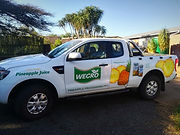 Wegro pineapple juice branded car