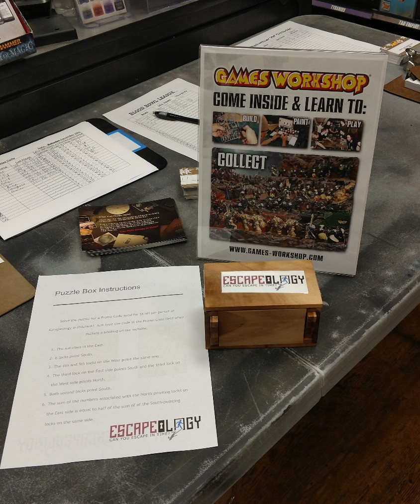 Solve a Puzzle for discount code at Games Workshop!