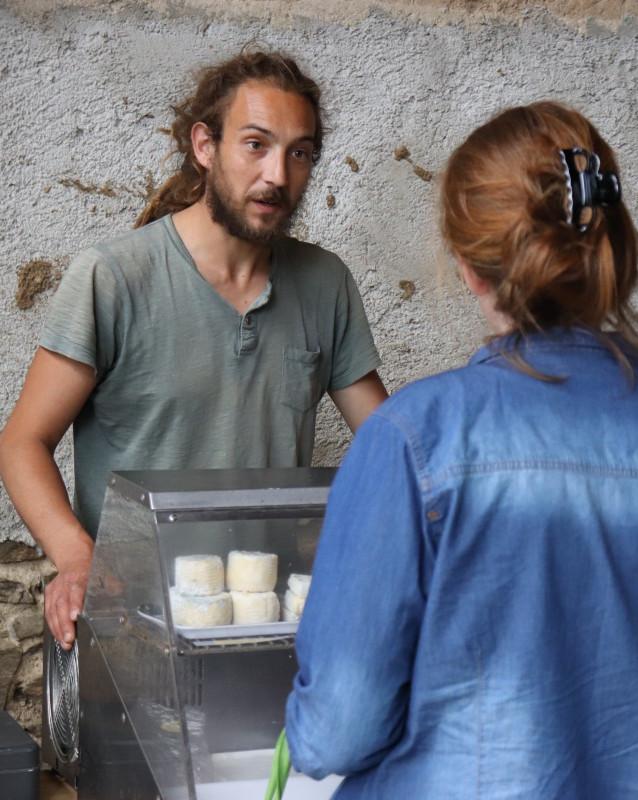 Nico, producteur de fromages de chèvre