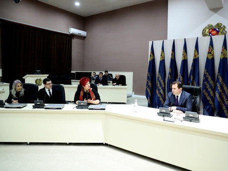 The graduates of PR School met Minister of Emergency Situations of RA Davit Tonoyan