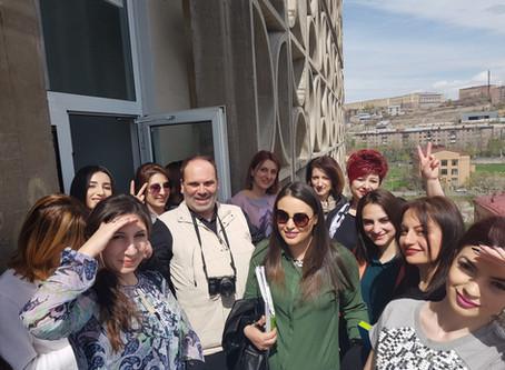 Beeline Armenia CEO delivers a lecture for PR School students