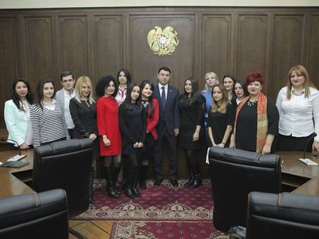 Էդուարդ Շարմազանովն ընդունել է PR դպրոցի ուսանողներին