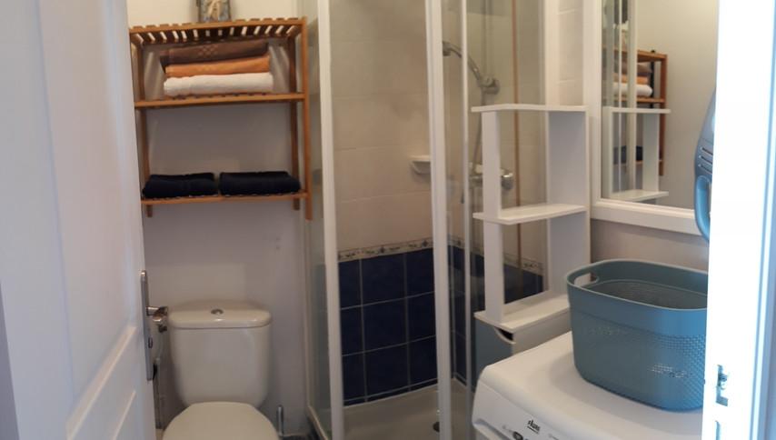 salle d'eau avec toilette , machine à la