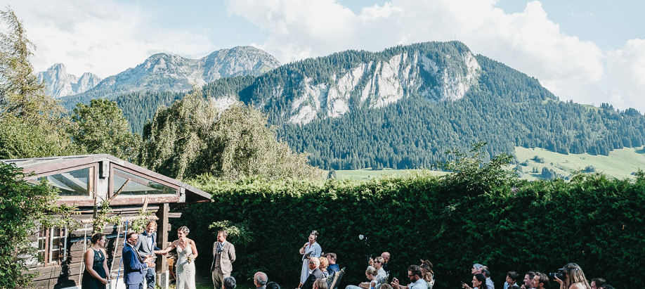 A rustic mountain wedding in Switzerland