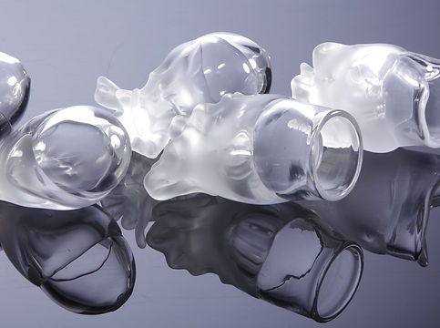 clear blown glass sea creatures