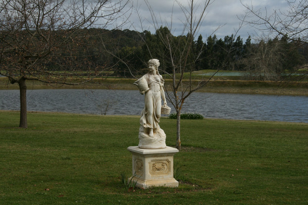 Statue in the Garden at Picardy Winery