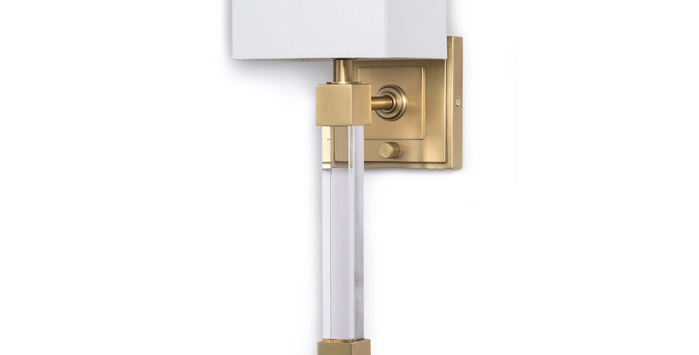 Modern Glam brass wall sconce