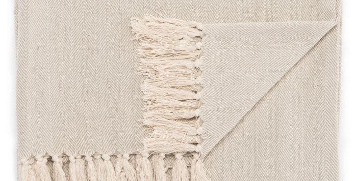 Gray Cotton Throw