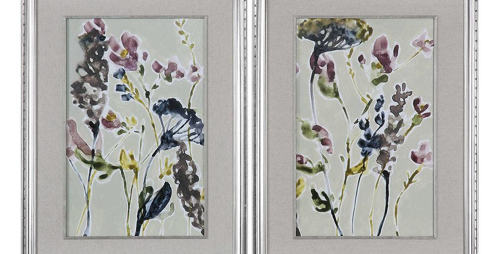 FIELD FLOWERS FRAMED PRINTS, S/2