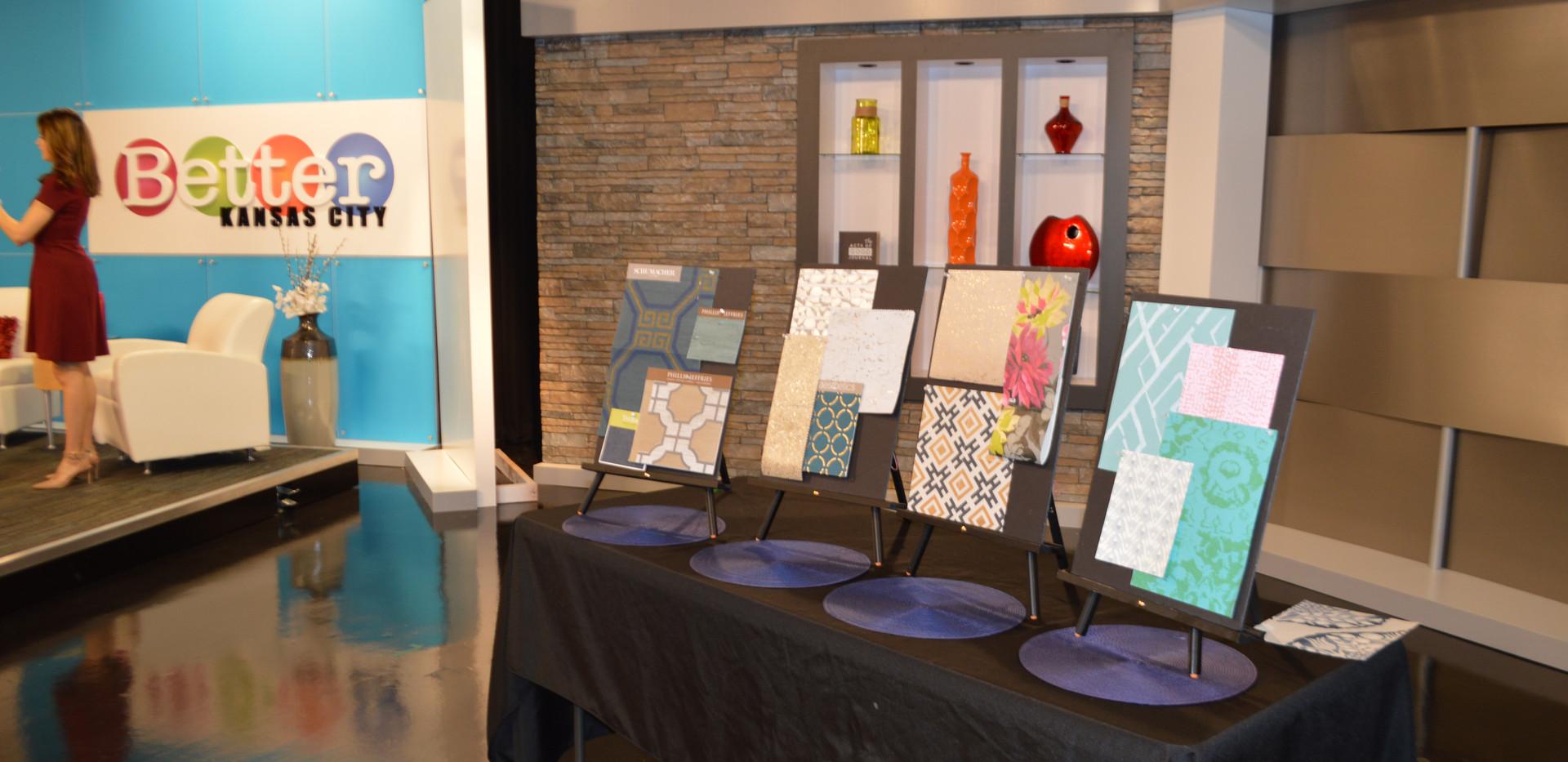 Angela Smeed Design teaching about Wallpaper trends on KCTV5 Better Kansas City.
