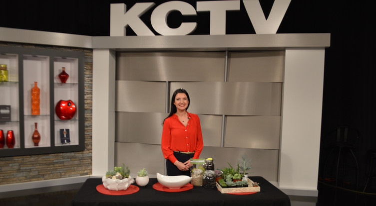 Angela Smeed Design teaching how to create a succulent arrangement on KCTV5 Better Kansas City.