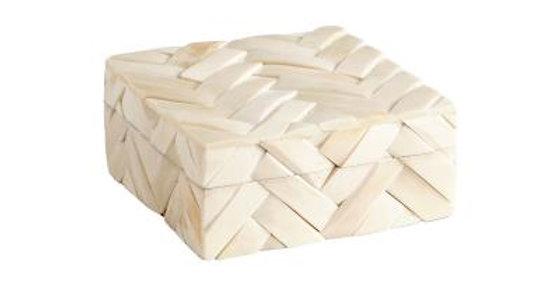 Small off-white bone box