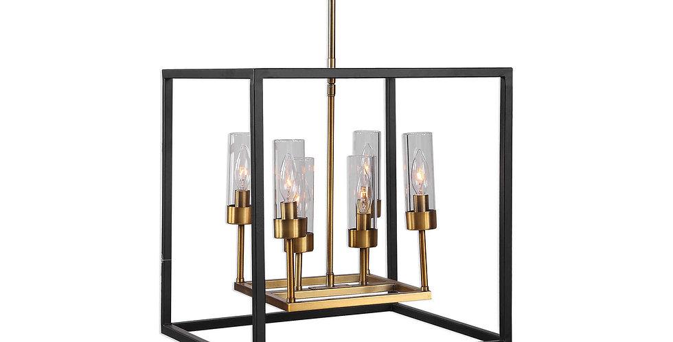 Two-Toned Six Light Pendant