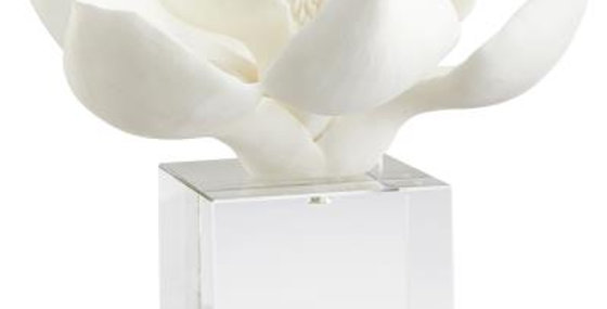 White Floral Sculpture
