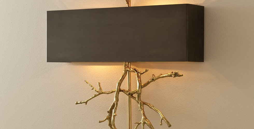 Twig Wall Sconce Brass Hard Wired
