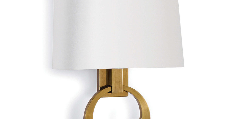 Promise Ring Sconce Brass