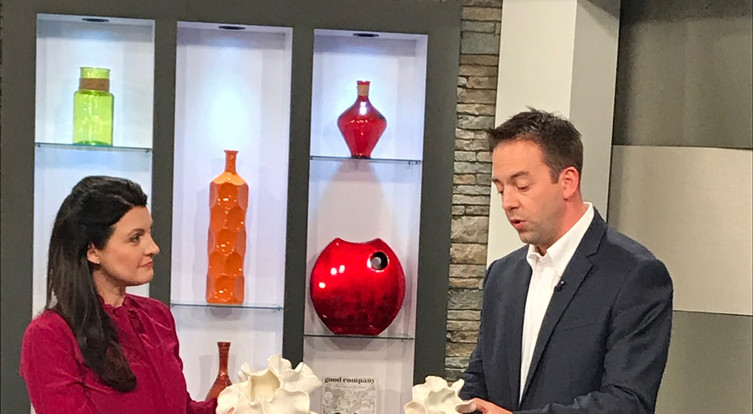 Angela Smeed Design teacing about the 3D  Wall Decorating trend on KCTV5 Better Kansas City.