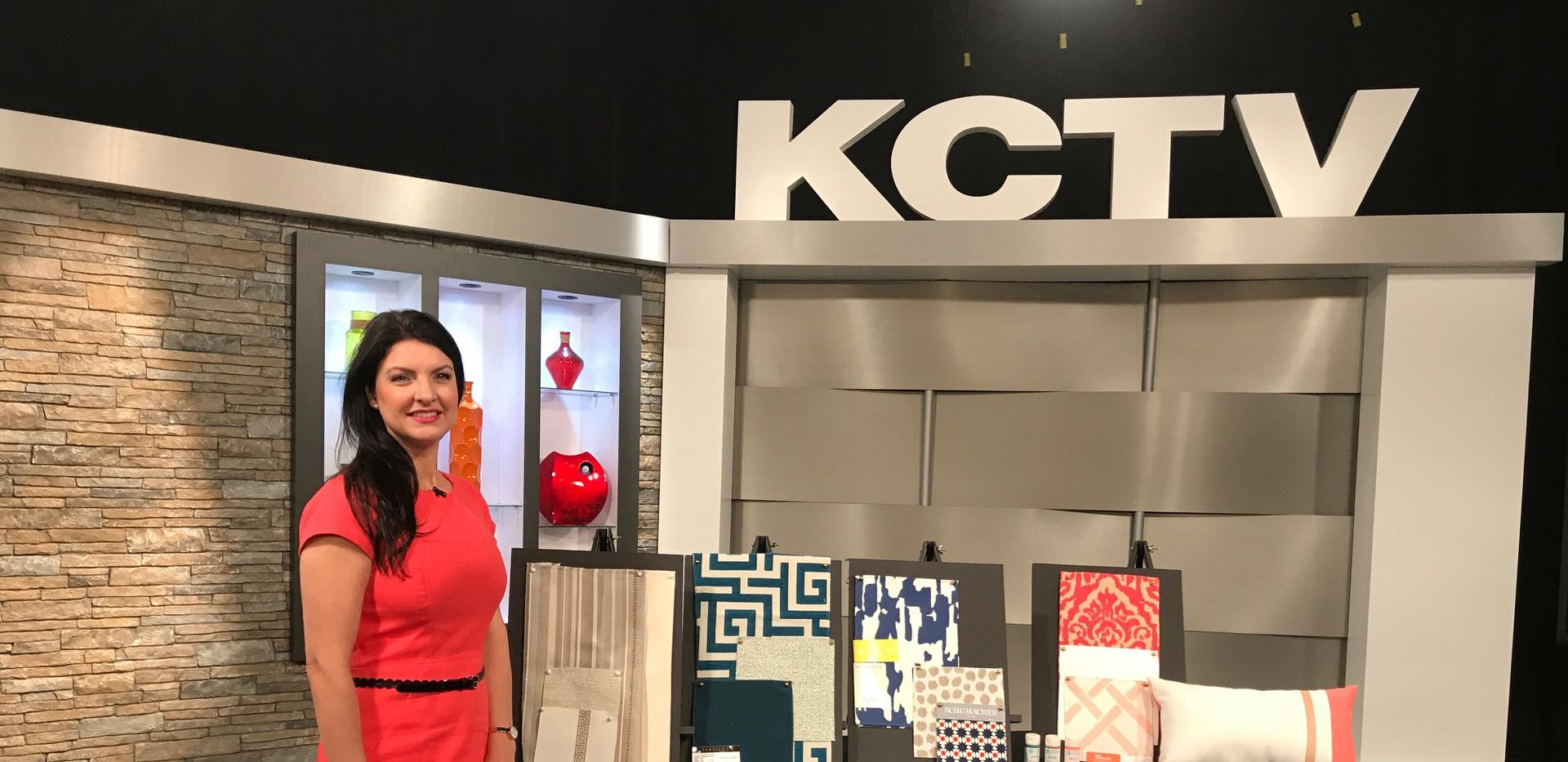 Angela Smeed Design teaching viewers to consider Sunbrella and Performance Fabrics on   KCTV5  Better Kansas City Live