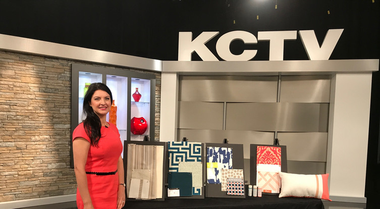 Angela Smeed Design teaching viewers to consider Sunbrella and Performance Fabrics on   KCTV5  Better Kansas City Live