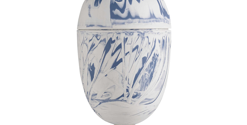 Egg Urn Blue Agate